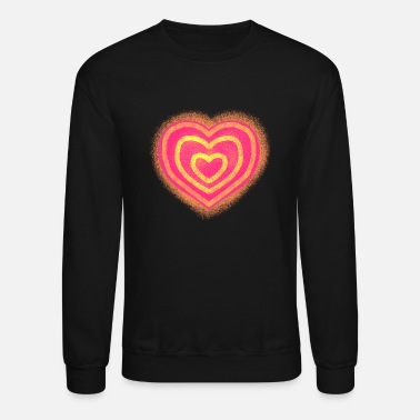 red heart - Unisex Crewneck Sweatshirt