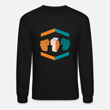 Gamebred Sticker 3 Piece And A Soda Gamebred MMA Dolphins Fighter - Unisex Crewneck Sweatshirt