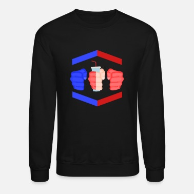 Gamebred Sticker 3 Piece And A Soda Cuban Gamebred MMA Fighter Fun - Unisex Crewneck Sweatshirt