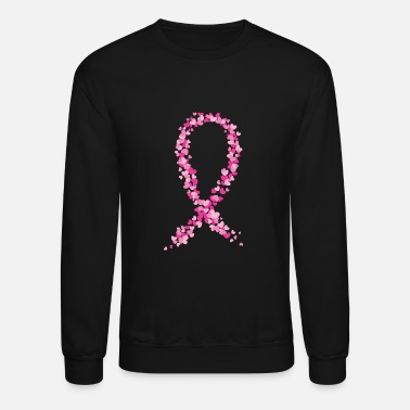 Breast Cancer Awareness Montage Crewnecks Pink Ribbon Support Sweatshirts