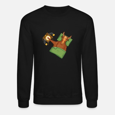 Handraft Taurus|Add Text|Text examples in the description! - Unisex Crewneck Sweatshirt