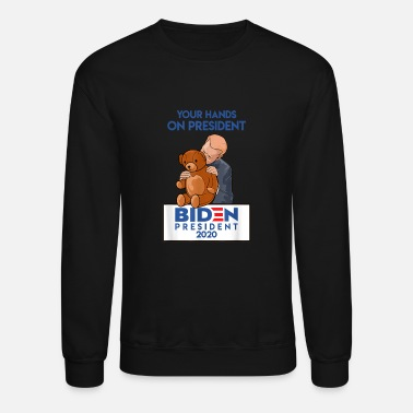 Creepy Funny Political Satire Creepy Joe Biden gift - Unisex Crewneck Sweatshirt