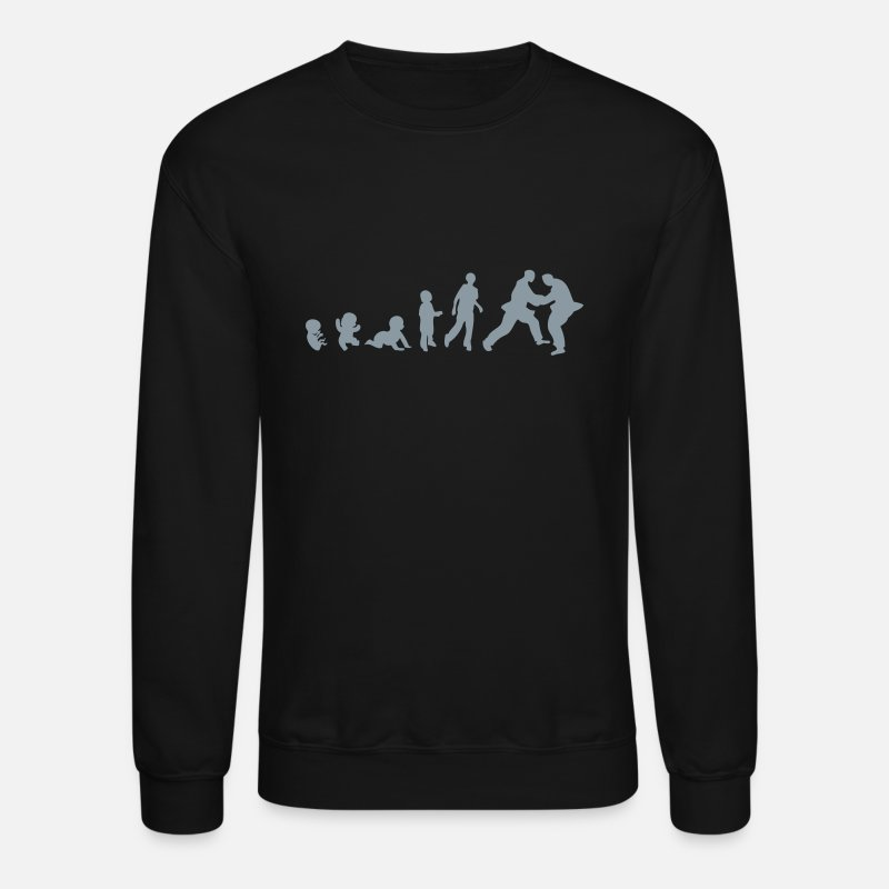 Judo Hoodies & Sweatshirts - judo evolution - Unisex Crewneck Sweatshirt black