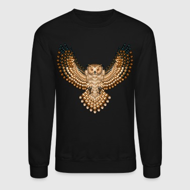 Beadwork Great Horned Owl - Crewneck Sweatshirt