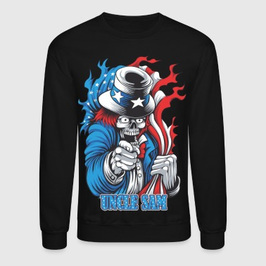 Joker Uncle sam's joker skull - Crewneck Sweatshirt
