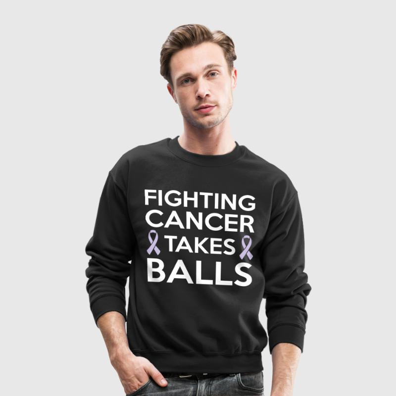 Fighting cancer takes balls - Crewneck Sweatshirt