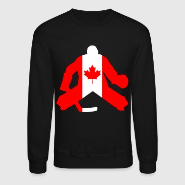 Canadian Flag Goalie - Crewneck Sweatshirt
