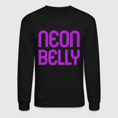 Jiu Jitsu BJJ Neon Belly Purple Light - Crewneck Sweatshirt