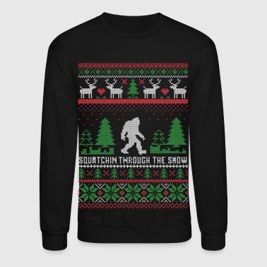 Squatchin Through Snow - Crewneck Sweatshirt