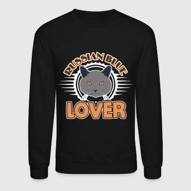 Russian Blue Cat Lover Shirt - Crewneck Sweatshirt