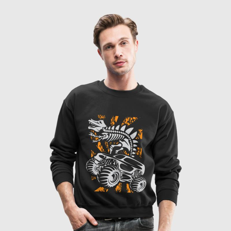 Monster Truck Dino - Crewneck Sweatshirt