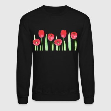 Watercolor Tulips - Crewneck Sweatshirt