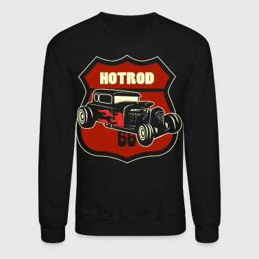 hotrod 66 sign - Crewneck Sweatshirt
