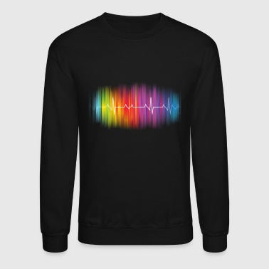 Gay Pride - Gay Rainbow Pulse - Crewneck Sweatshirt