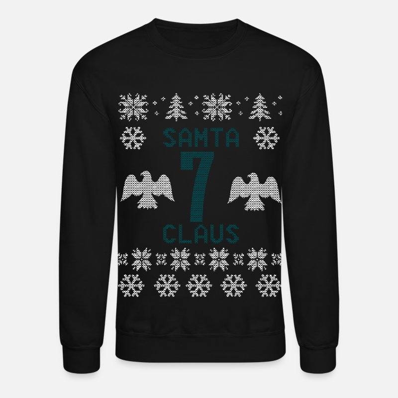 Ugly Hoodies & Sweatshirts - Samta Claus - Unisex Crewneck Sweatshirt black