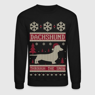 Dachshund Through Snow - Crewneck Sweatshirt