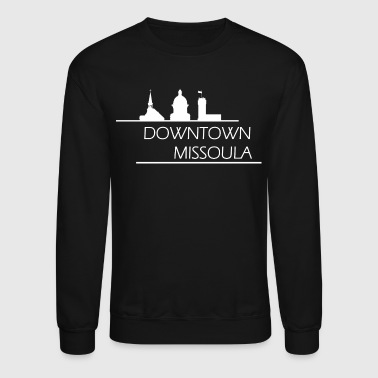 Downtown Missoula - White - Crewneck Sweatshirt