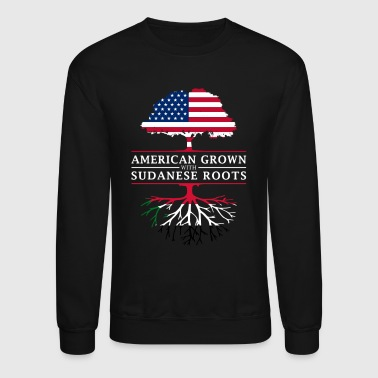 American Grown with Sudanese Roots Sudan Design - Crewneck Sweatshirt