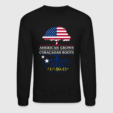 American Grown with Curacaoan Roots Curacao Design - Crewneck Sweatshirt