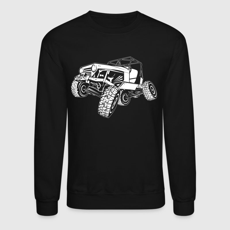 Off-Road White Monster Jeep - Crewneck Sweatshirt