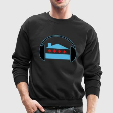 Chicago House Flag Headphones - EDM - Crewneck Sweatshirt