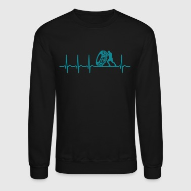 Heartbeat Strongman Shirt Champion Cool Gift - Crewneck Sweatshirt