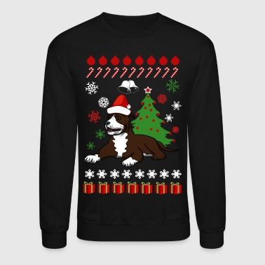 christmas pitbull terrier xmas  - Crewneck Sweatshirt