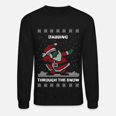 Ugly Christmas Dab Santa Dabbing Ugly Christmas Sweater - Crewneck Sweatshirt