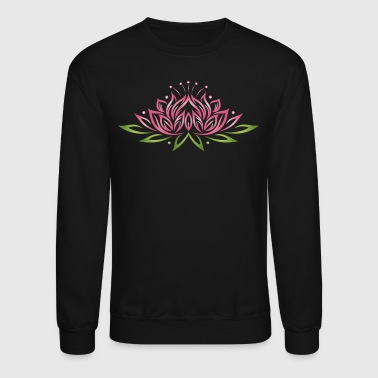 Tantra Large lotus flower with colorful effects. Yoga, we - Crewneck Sweatshirt