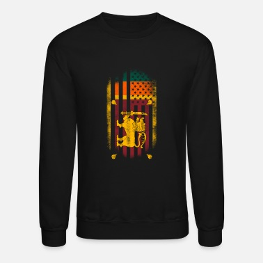 Sri Lanka Sri Lankan American Flag Sri Lanka and USA Design - Crewneck Sweatshirt