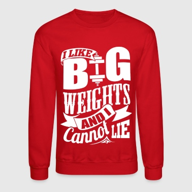 Funny Gym Weights Quotes - Crewneck Sweatshirt