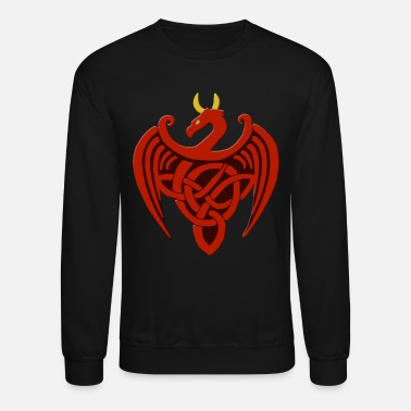 Red Dragon Red Celtic Dragon - Crewneck Sweatshirt