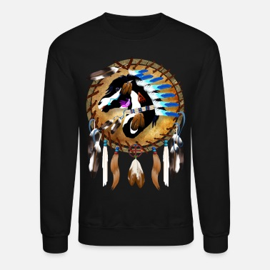 Indian Spiritual Horse - Crewneck Sweatshirt