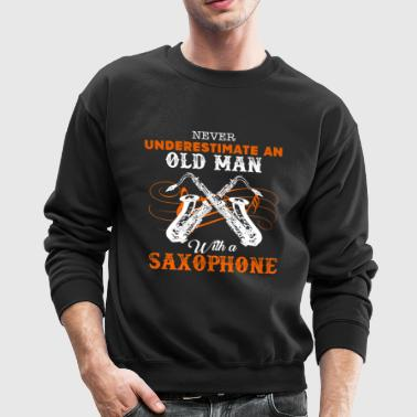 Old Man With A Saxophone - Crewneck Sweatshirt