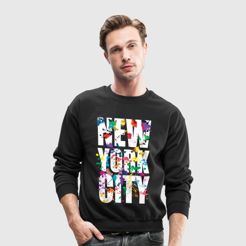 new_york_city_air_brush - Crewneck Sweatshirt
