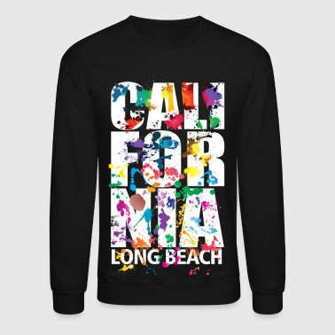 long_beach_air_brush - Crewneck Sweatshirt