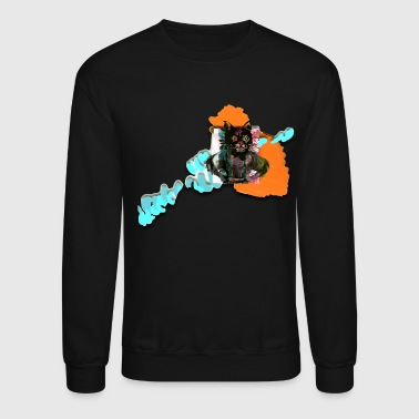 HEWGE CATINDIAN WITH ABSTRACT BACKGROUND LAYOUT - Crewneck Sweatshirt