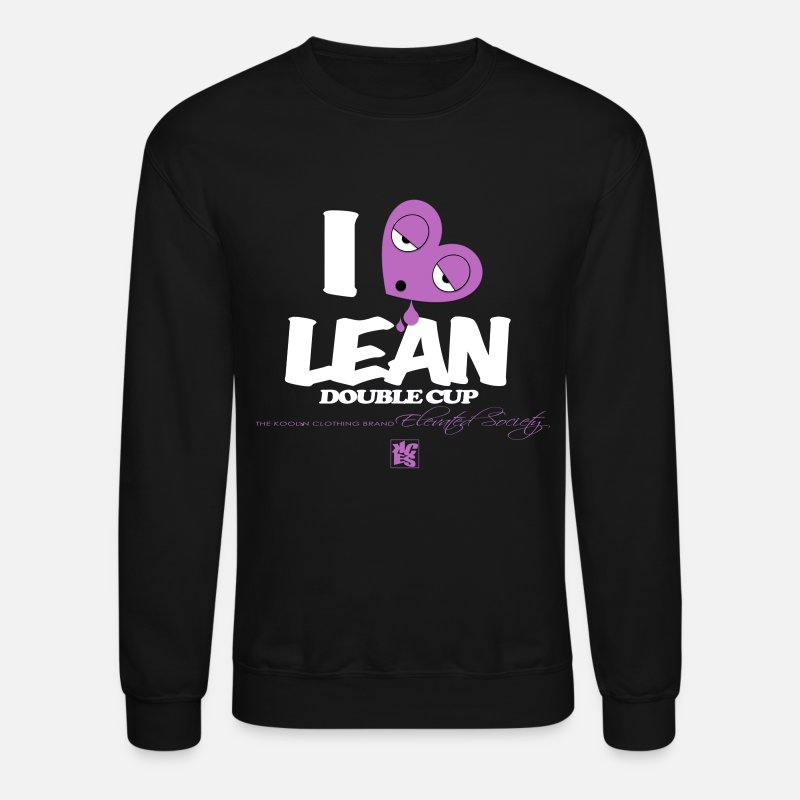 Heart Hoodies & Sweatshirts - I Love Lean - Unisex Crewneck Sweatshirt black