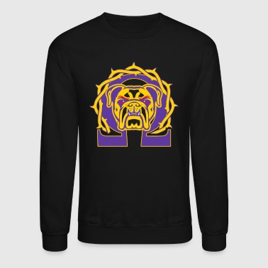 Omega Men's Omega Que Dawg Psi Phi Purple Gold Fraternity - Crewneck Sweatshirt