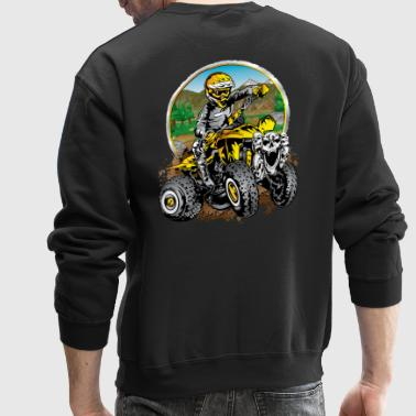 ATV Quad Cartoon Yellow - Crewneck Sweatshirt