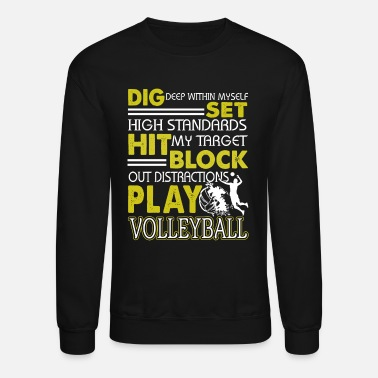 Volleyball Volleyball Shirt - Crewneck Sweatshirt