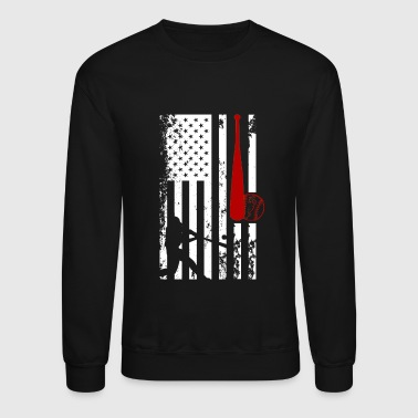 Softball Softball Flag Shirt - Crewneck Sweatshirt