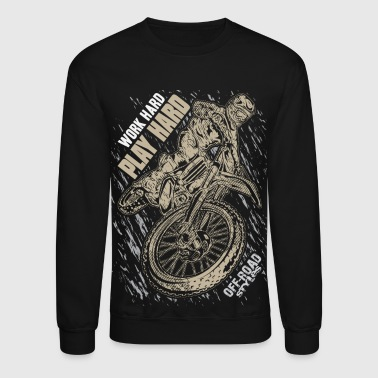 Full Throttle Motocross Play Hard Grey - Crewneck Sweatshirt