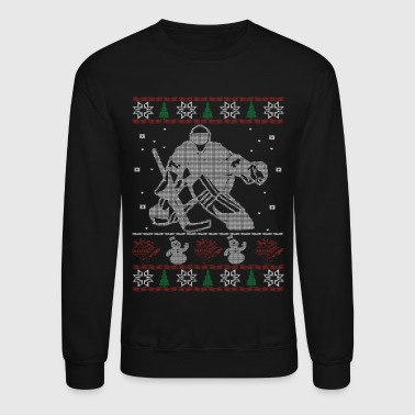 Hockey Goalie christmas - Crewneck Sweatshirt