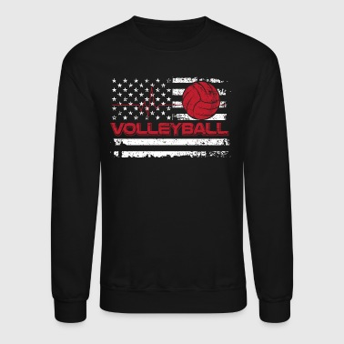Beach Volley Ball Volleyball/American Flag/Volley Ball/Player/Sports - Crewneck Sweatshirt