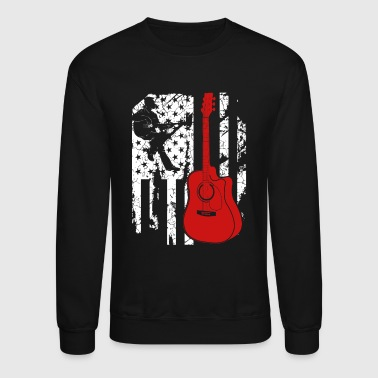 Acoustic Guitar Flag Tee - Crewneck Sweatshirt