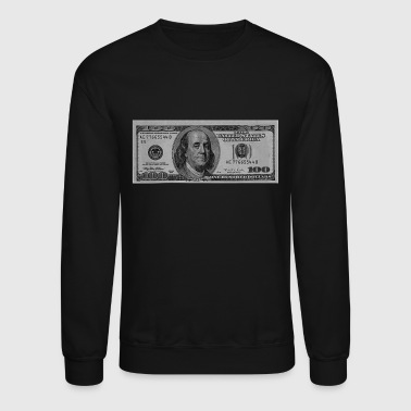 Dollar Hundred Dollar Bill  - Crewneck Sweatshirt