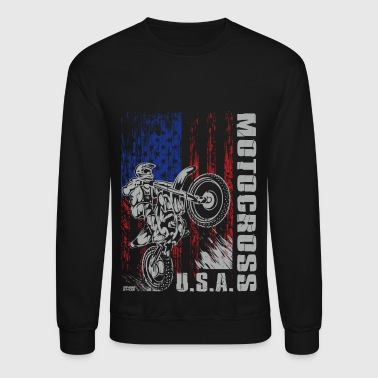 Motocross USA Strong - Crewneck Sweatshirt