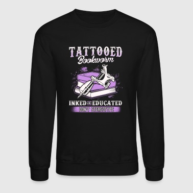 Tattooed Bookworm - Crewneck Sweatshirt