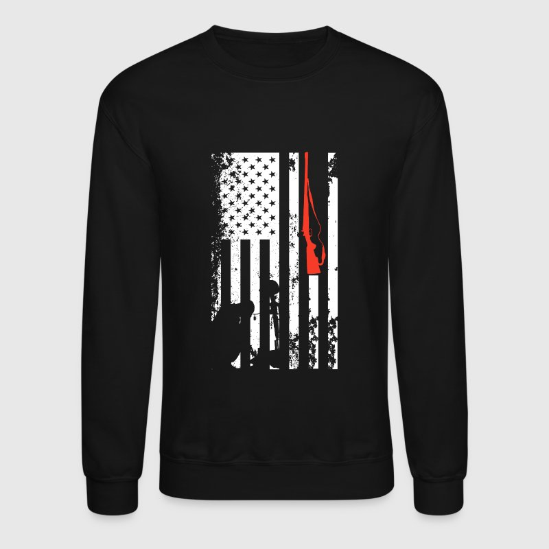Veteran Flag Shirt - Crewneck Sweatshirt